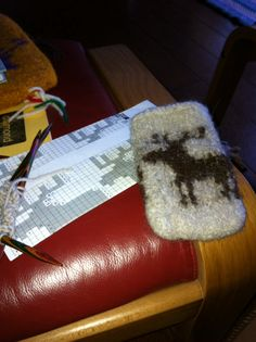 Felted mobile phone cosy