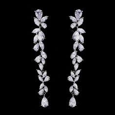 Clara+Cubic+Zirconia+Wedding+Earrings