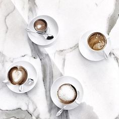 early morning needs ✔️ #coffee #marble #minimal
