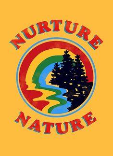 'Nurture Nature Vintage Environmentalist Design' Poster by Lexie Pitzen - Fotowand ideen Photo Wall Collage, Picture Wall, Collage Art, Poster S, Poster Wall, Print Poster, Hd Vintage, Vintage Words, Vintage Quotes