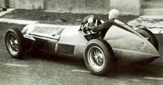 Jean-Pierre Wimille driving his Alfa Romeo 158 to a win in the 1948 French Grand Prix, back at Reims-Gueux over 64 laps of a 7.8 km. circuit.