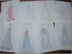 Mis diseños s. XIII. Spanish clothes 13th c