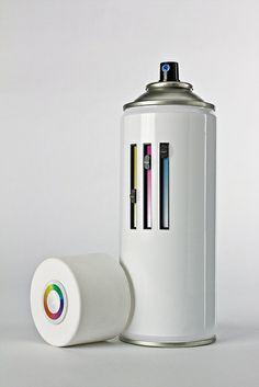 Custom color spraycan