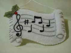 This felted adorable music ornament, from the Bucilla Drummer Boy Collection, will excite small children. Felt Christmas Decorations, Felt Christmas Ornaments, Christmas Sewing, Handmade Christmas, Christmas Makes, Christmas Fun, Felt Crafts, Holiday Crafts, Music Ornaments