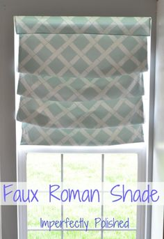 DIY Faux Roman Shade {from a roller shade}