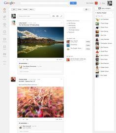 Nuovo Google+: nuova interfaccia più semplice e più bella