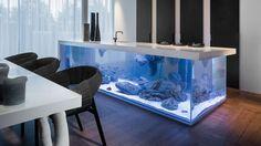ocean-kücheninsel mit aquarium-corian küchenplatte-design robert kolenik
