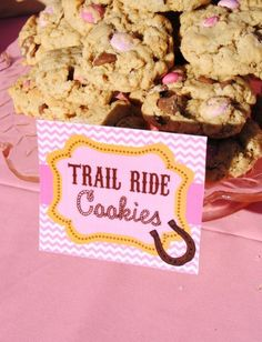 AZ COWGIRL - FOOD Labels - Girl Birthday Party - Pink Horse Party, Cowboy - Western - Ranch - Rodoe - Baby Shower - Krown Kreations
