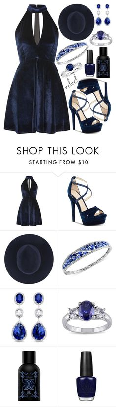 """Velvet"" by deedee-pekarik ❤ liked on Polyvore featuring Oh My Love, Jessica Simpson, Effy Jewelry, Miadora, The Fragrance Kitchen, OPI and Blue Nile"