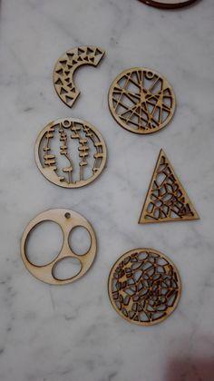 earrings - lasercut