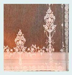 Bee Lace Curtains With Trim