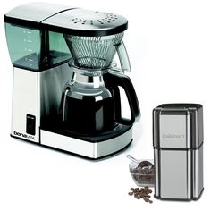 Bonavita BV1800 8-Cup Coffee Maker with Glass Carafe with Cuisinart Grind Central Coffee Grinder ** Tried it! Love it! Click the image. : Coffee Maker