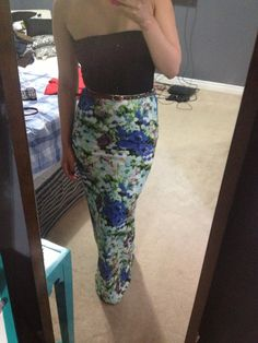 Floral maxi dress! Summer outfit!