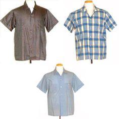 1950s Vintage Shirt Lot 3 Ricky Rockabilly Turner Togs Jayson Jaycoda Size L