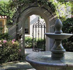 gateway through fountain