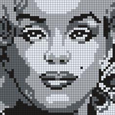 Marilyn Monroe  (50 X 50 Square Grid Pattern)