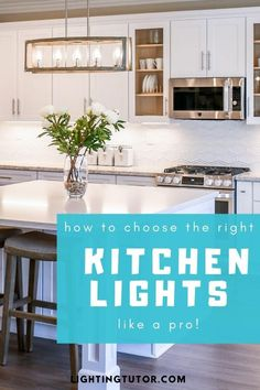 learn how to choose kitchen lights like a pro! #kitchenlighting #kitchenlights #kitchenlightingideas #kitchenideas Home Design, Interior Design, Simple Interior, Design Ideas, Kitchen Lighting, Home Lighting, Lighting Ideas, Kitchen Paint, Kitchen Design