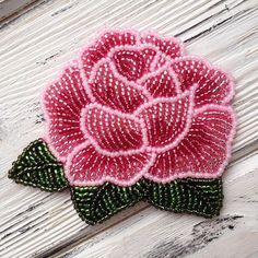 Best 10 Embroidery Jewelry – How to Make Blue Seed Bead Embroidery Rose Bangle. Bead Embroidery Tutorial, Flower Embroidery Designs, Bead Embroidery Jewelry, Embroidery Bracelets, Hand Work Embroidery, Rose Embroidery, Hand Embroidery Patterns, Beaded Flowers Patterns, Native Beading Patterns