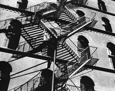 Fire Escapes and Shadows, New York by Brett Weston
