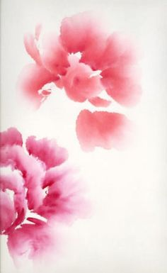 Simple, yet most beautiful, this peony watercolor is from a Chinese artist.