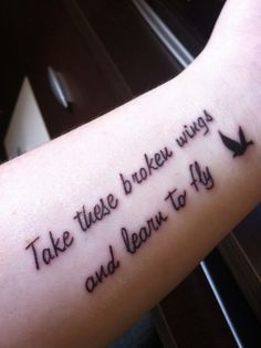 Beatles Lyric Tattoo Blackbird <3 put this in the video for my daddy's funeral