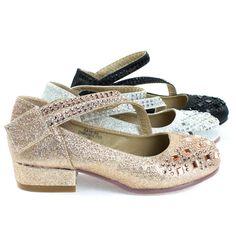 c7cd8825e Fabulous Angel-37K Little Girls Bling Rhinestone Platform Dress Heels  Sandals