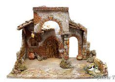 Belenes artesanos para figuras de 12 cm Portal, Diorama, Bonsai, Nativity, Aquarium, Merry Christmas, Miniatures, Clock, Architecture