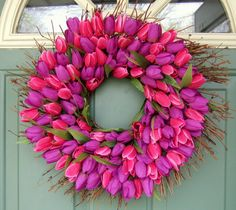 Spring Wreath   Mothers Day Wreath  Wreath for Door by countryprim, $40.00