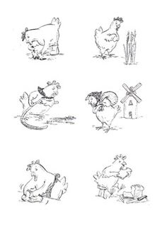 Little Red Hen Colouring Pages
