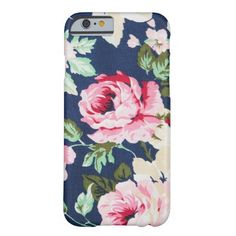 Romantic and Elegant Vintage Floral Pink Roses Barely There iPhone 6 Case