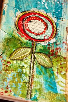 NoelMignon.com Layouts and Projects: Mixed Media Flower Canvas- a mini tutorial!