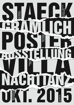 Klaus Staeck and Götz Gramlich (gggrafik) poster exhibition at Villa Nachttanz, 09.10. - 10.11 2015