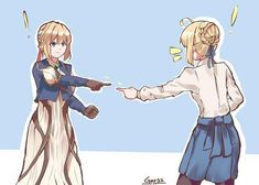 This HD wallpaper is about Fate/Stay Night, Violet Evergarden (anime), Saber, anime girls, Original wallpaper dimensions is file size is Sad Anime, Manga Anime, Anime Art, Anime Crossover, Violet Evergreen, Violet Evergarden Anime, Accel World, Familia Anime, Fate Anime Series