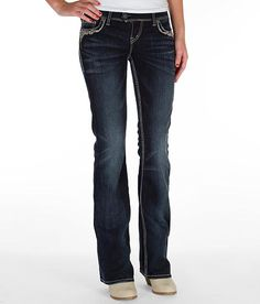 Miss Me Summer Spell Tribal Mid-Rise Boot Cut Jeans [MW8161B3 ...