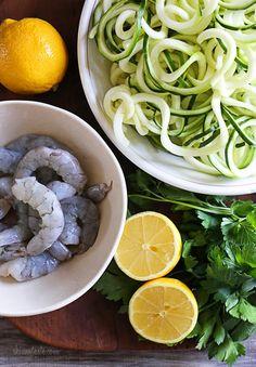 Shrimp Scampi Zoodles for Two | Skinnytaste