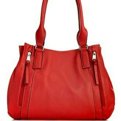 """Tignanello BRAND NEW shopper Brand new. Fab function organizer handbag in poppy/tomato color. Pebble leather. Two middle zippered divider compartments. Two outside zippered pockets. Slip pocket on the back for cellphones. Magnetic snap closure. 14"""" W x 10 1/2 H x 4 1/2 D. 10"""" strap drop. Tignanello Bags"""