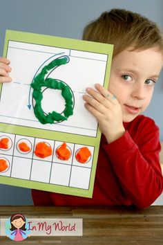Number Play Dough Mats. Great for kinesthetic learners!