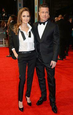 Angelina Jolie and Brad Pitt Bafta 2014