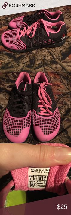 Reebok Crossfit Nano 4's Pink and black Reebok Crossfit Nano 4's. Bought off Poshmark, but never worn. Looking for a good home. Reebok Shoes Athletic Shoes