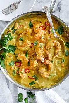Shrimp In Thai Coconut Sauce - Foodie Crush Fish Recipes, Seafood Recipes, Indian Food Recipes, Asian Recipes, Dinner Recipes, Cooking Recipes, Healthy Recipes, Curry Recipes, Thai Prawn Recipes