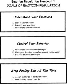 #EmotionRegulation | Repinned by Melissa K. Nicholson, LMSW http://www.adoptioncounselinggr.com