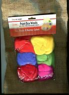 2 oz. Colonial Needle Felting Paint Box 100% Wool  6 Pc. Fruits Berries Primary