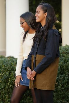 The First Daughters @ The Annual White House Turkey Pardon. 2015
