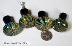 Blown glass cabinet knobs