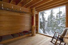 Big windows in a cabin