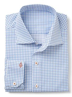 White/Light Blue Twill Check. Perfect for work or a summer wedding!