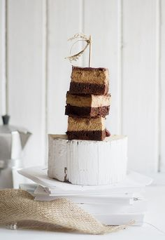 Chocolate Coffee Cake/white log