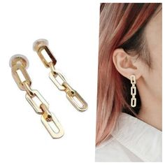 Clip On Earrings, Dangle Earrings, Ear Piercings, Spiral, Dangles, Wire, Brass, Change, Elegant