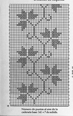 Photo from album Free Crochet Doily Patterns, Filet Crochet Charts, Crochet Lace Edging, Crochet Borders, Embroidery Patterns, Knitting Patterns, Wedding Cross Stitch Patterns, Cross Stitch Flowers, Cross Stitch Bookmarks