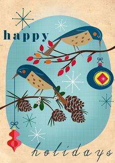 vintage Christmas cards for christmas christmas printables CHRISTmas printable Noel Christmas, Retro Christmas, Christmas Greetings, Winter Christmas, Holiday Cards, Christmas Crafts, Xmas, Illustration Noel, Christmas Illustration